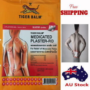 Tiger Balm Pain Relief Patch - Warm - 5 Pack - 10 Patches -14*10 CM - FREE POST