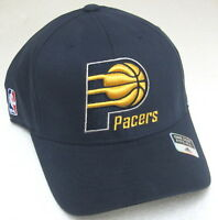 NBA Indiana Pacers Navy Blue One Size Fits All Structured Fitted Hat By Adidas