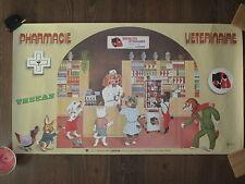 Ancienne affiche publicitaire pharmacie veterinaire Thekan illustr. J. BILLOT