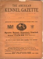 American Kennel Club Gazette, 1892, EXTREMELY RARE