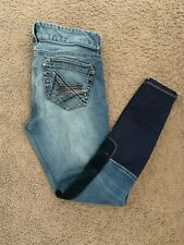 New listing Ariat Women's Stretch Denim Suede Knee Patch Riding Breeches Size 26