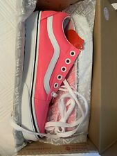 VANS Shoes Old Skool Neon Knockout Pink NIB Womens Size 6.5 Tie Up