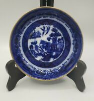 Antique Ashworth Bros Hanley England Blue Transferware Dish 1880-1890 5.5""