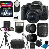Canon EOS Rebel T6i Digital SLR Camera + 18-55mm STM Lens + 32GB All on 1 Bundle
