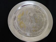 Boston Tea Party Solid Sterling Silver Plate inlaid with 24 kt gold Danbury Mint