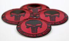 """(PACK OF 4) 2nd Amendment Wheel Center Cap Sticker Emblem Decals 2.25"""" Dome"""