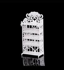 Doll House Accessories - 1 Set of Mini White Shelfs