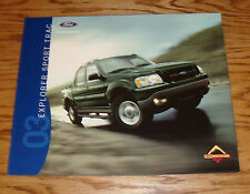 Original 2003 Ford Explorer Sport Trac Sales Brochure 03 XLS XLT