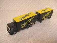 Wiking 573 03 36 MAN Box Truck & Trailer Schweppes