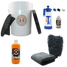 Auto Wasch Set mit Eimer Schmutz Sieb Snow Foam Shampoo und mehr