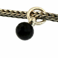 Authentic Trollbeads Sterling Silver 51735 Black Spinel Tassel *0