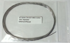 "10 Feet of Kester Solder .031"" 63/37 No Clean 24-6337-8802 -Buy2Get 1 FREE -NEW-"