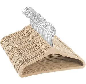 """Premium Kids Velvet Hangers - 50 Pack - 14"""" Wide - Thin Non Slip Junior Hangers"""