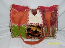 Western Horse Brown Burgundy Green Orange Paisley Rag Quilt Diaper Bag Tote