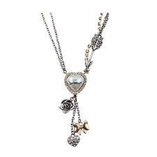 collier guess coeur flèche retro cadeau necklace
