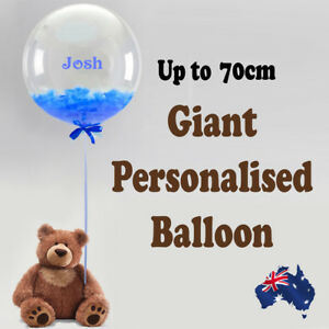 PERSONALISED JUMBO GIANT  BUBBLE BALLOON  BABY SHOWER BIRTHDAY CHRISTENING PARTY