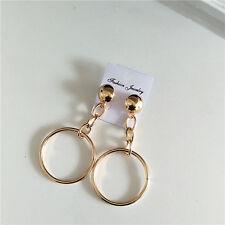 Fashion Dot & Line gold Double circle ring hoop fashion earrings Chunky Ear Stud