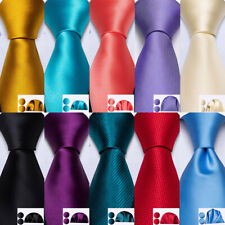 100 Colors Mens Silk Tie Necktie Set Red Blue Green Brown Pink Gold Wedding Prom