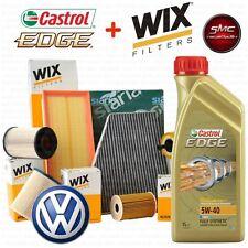 Kit tagliando olio motore CASTROL EDGE 5W40 5LT 4 FILTRI WIX VW GOLF 5 V 1.9 TDI
