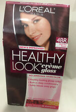 L'Oreal Healthy Look Creme Gloss Hair Color,Dark Red Brown 4BR/ CHERRY CHOCOLATE