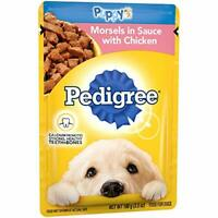 Pedigree Choice Cuts Puppy Morsels In Sauce With Chicken Wet Dog Food, (16) 3.5