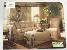 Vogue Patterns for Living 1904 Slipcovers Waverly Designer Uncut Factory Folded