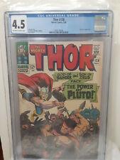 Thor #128 CGC 4.5 The Power of Pluto Hercules Jack Kirby MARVEL COMICS