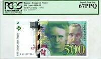 FRANCE  500 FRANCS 1995 BANQUE DE FRANCE PICK 160 a LUCK MONEY VALUE $670