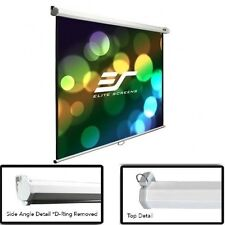 Manual Projector Screen White Matte Pull Down Auto Lock Projection 100-Inch 16:9