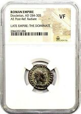 Roman Emperor Diocletian Coin NGC Certified VF, & Story,Certificate