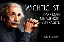 Albert Einstein Spruch 57 Blechschild Schild gewölbt Metal Tin Sign 20 x 30 cm
