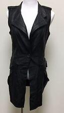 XCVI Black Synthetic Leather Vest - Size Small - NWOT