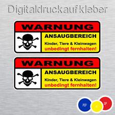 2x Warnung Ansaugbereich Auto Aufkleber Car Sticker Shocker Vergaser 10 x 3,7 cm