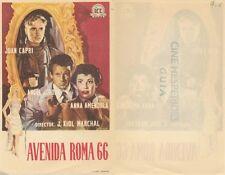 Programa de CINE. Título película: AVENIDA ROMA 66.