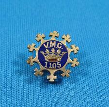 Vintage VMC 1105 Royal Arcanum Fraternity Enamel Goldtone Metal Pin Pinback