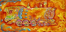 SIGNED by Jason Becker and Gary Becker Art Print APPLE TRAIN NO.12(16x12 Inches)