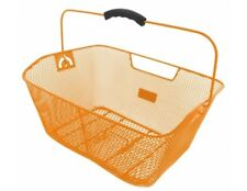 M-Wave Bike Basket Wire closed-meshed Bicycle Luggage Rack in Orange