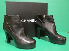 Chanel Black Short Boots Euro 39 US 9 1/2 B NEVER WORN