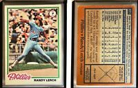 Randy Lerch Signed 1978 Topps #271 Card Philadelphia Phillies Auto Autograph
