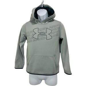 Under Armour Youth Hoodie Size YLG Loose Sweatshirt Gray Style # 1343273