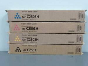 New Genuine RICOH SAVIN LANIER MP C2503 K & MP C2503H CMY Print Cartridge Set