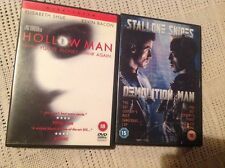 2 dvds HOLLOW MAN kevin bacon & DEMOLITION MAN stallone snipes