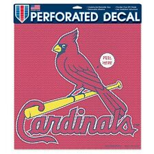 St Louis Cardinals Car Window Decal Perforated Large