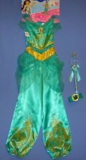 Disney Princess Jasmine costume girls 7-8 Aladdin Sparkle Deluxe WAND HAIRBAND