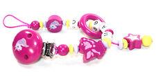 Schnullerkette mit Namen Fee Einhorn Mädchen Baby pink  flieder personalisiert