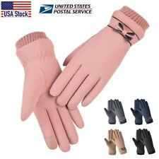 Winter Women Gloves Windproof Waterproof Plush Warm Touch Screen Soft Mittens US
