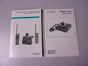 Vintage Motorola Installation Service Manuals HT440 HT90 Radius