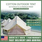 Cotton Canvas Bell Tent Glamping Camping Tent Yurt Family Teepee Stove Jack 5M