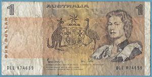 Australian 1982 $1 One Dollar Johnston Stone Note DLE874659