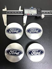 4Pcs 54mm SILVER CENTER WHEEL HUB CAPS EMBLEM COVER CAP Fit for FORD 6M21-1003